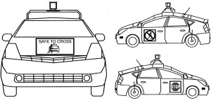 Google patent reveals how its self-driving cars may communicate with pedestrians